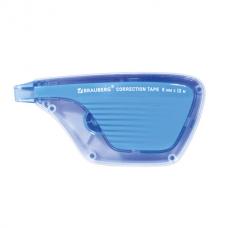 Корректирующая лента BRAUBERG ULTRA, 5 мм х 12 м, корпус бело-голубой, блистер, 229064