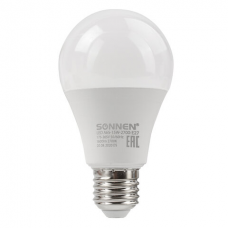 Лампа светодиодная SONNEN, 15 (130) Вт, цоколь Е27, груша, теплый белый, 30000 ч, LED A65-15W-2700-E27, 454919