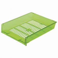 Лотки горизонтальные для бумаг, КОМПЛЕКТ 3 шт., 340х270х70 мм, тонированный зеленый, BRAUBERG 'Office', 237261