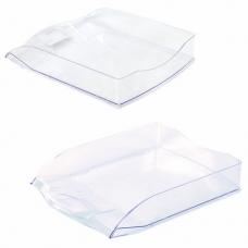 Лоток горизонтальный для бумаг BRAUBERG 'Delta', A4 (340х270х60 мм), прозрачный, 237262