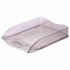 Лоток горизонтальный для бумаг BRAUBERG 'Delta', A4 (340х270х60 мм), тонированный серый, 237265.
