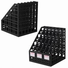 Лоток вертикальный для бумаг BRAUBERG 'MAXI Plus', 240 мм, 6 отделений, сетчатый, сборный, черный, 237015