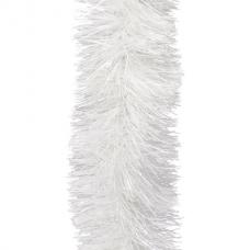 Мишура 1 штука, диаметр 100 мм, длина 2 м, белая, 5-180-10