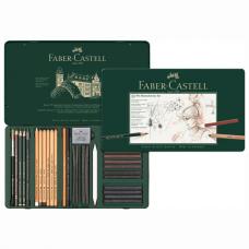 Набор художественный FABER-CASTELL 'Pitt Monochrome', 33 предмета, металлическая коробка, 112977