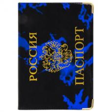 Обложка для паспорта, тиснение 'Герб', ПВХ, ассорти, STAFF, 237580