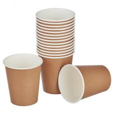 Одноразовые стаканы 200 мл, КОМПЛЕКТ 50 шт., бумажные однослойные, Craft 2.0, холодное/горячее, HUHTAMAKI, 771S70900-2201