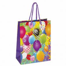 Пакет подарочный 17,8x9,8x22,9 см, ЗОЛОТАЯ СКАЗКА 'Воздушные шары', ламинированный, 606590