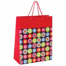 Пакет подарочный 26x12,7x32,4 см, ЗОЛОТАЯ СКАЗКА 'Калейдоскоп', ламинированный, 606604