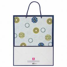 Пакет подарочный 26x12,7x32,4 см, ЗОЛОТАЯ СКАЗКА 'Кольца и круги', ламинированный, 606602