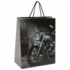 Пакет подарочный 26x12,7x32,4 см, ЗОЛОТАЯ СКАЗКА 'Мотоцикл', ламинированный, 606589