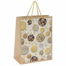Пакет подарочный 26x12,7x32,4 см, ЗОЛОТАЯ СКАЗКА 'Мраморная абстракция', ламинированный, 606601