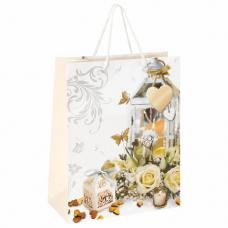 Пакет подарочный 26x12,7x32,4 см, ЗОЛОТАЯ СКАЗКА 'Романтика', ламинированный, 606575