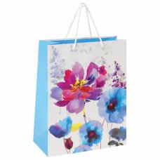 Пакет подарочный 26x12,7x32,4 см, ЗОЛОТАЯ СКАЗКА 'Весенний букет', ламинированный, 606585