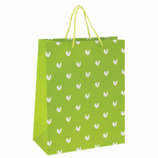 Пакет подарочный 26x12,7x32,4 см, ЗОЛОТАЯ СКАЗКА 'Зеленый в галочку', ламинированный, 606603