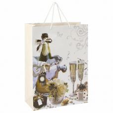 Пакет подарочный 33x12,7x44,7 см, ЗОЛОТАЯ СКАЗКА 'Свадебный', ламинированный, 606576