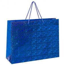 Пакет подарочный 44,7x12,7x33 см, ЗОЛОТАЯ СКАЗКА голография, ассорти 3 цвета, 606609