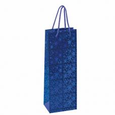 Пакет подарочный для бутылки 13x8,5x36 см, ЗОЛОТАЯ СКАЗКА голография, ассорти 4 цвета, 606608