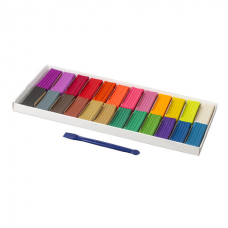 Пластилин классический BRAUBERG, 24 цвета, 480 г, со стеком, ВЫСШЕЕ КАЧЕСТВО, 105899