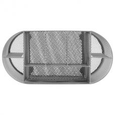 Подставка-органайзер металлическая BRAUBERG, 9 секций, 105х220х110 мм, серебро, 237419