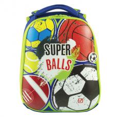 Ранец BRAUBERG PREMIUM, 2 отделения, с брелоком, для мальчиков, 'Супер-мячи', 38х29х18 см, 227822