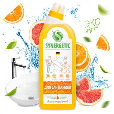 Средство для уборки туалета антибактериальное 700 мл SYNERGETIC 'Грейпфрут и апельсин', 104070