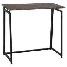 Стол на металлокаркасе BRABIX 'LOFT CD-001', 800х440х740 мм, складной, цвет морёный дуб, 641209