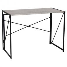 Стол на металлокаркасе BRABIX 'LOFT CD-002', 1000х500х750 мм, складной, цвет дуб антик, 641213