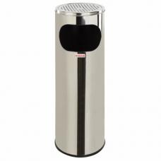 Урна с пепельницей 18 литров, 580х210 мм, нержавеющая сталь, зеркальная, ЛАЙМА 'Профессионал', 606297