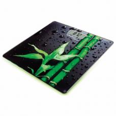 Весы напольные SCARLETT SC-BS33E051 'Бамбук', электронные, вес до 180 кг, квадрат, стекло, с рисунком