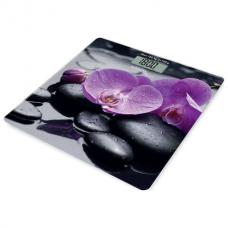 Весы напольные SCARLETT SC-BS33E067 'Орхидеи', электронные, максимальная нагрузка 180 кг, квадрат, стекло