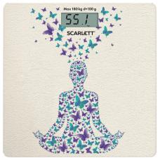 Весы напольные SCARLETT SC-BS33E098 'Йога', электронные, вес до 180 кг, квадрат, стекло, с рисунком