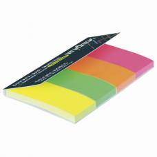 Закладки клейкие бумажные INDEX, НЕОНОВЫЕ, 50х20 мм, 4 цвета по 40 листов, I441810